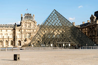 There are only security people at the Louvre  Photo � Ludo Segers