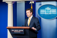 White House Spokesperson Josh Earnst in the Press Briefing Room