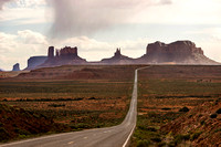 Rain over Monument Valley AZ L