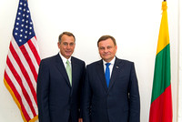 House Speaker Boehner in his office with Speaker of Lithuanian Parliament