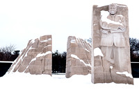 Martin Luther Memorial covered by snow.